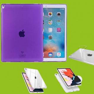Für Apple iPad Pro 12.9 Zoll 2018 Lila Tasche Hülle Case Cover TPU Silikon dünn