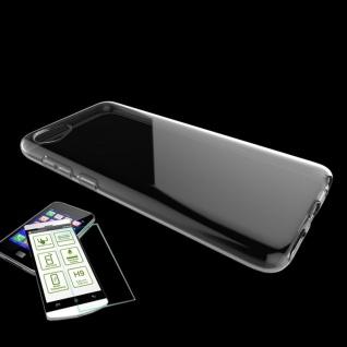 Für HTC Desire 12 Silikoncase Transparent Tasche + 0, 3 H9 Hart Glas Hülle Neu