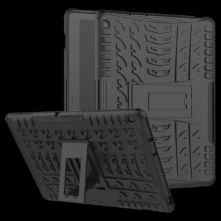 Für Huawei MediaPad M5 Lite 10.1 Zoll Hybrid Outdoor Hülle Schwarz Tasche Cover
