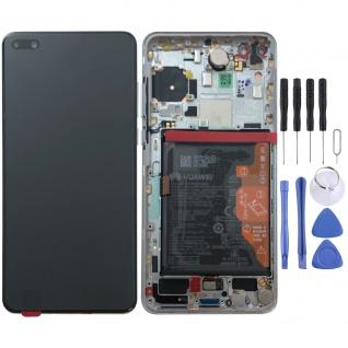 Huawei Display LCD Pack Rahmen für P40 Service 02353MFW Weiß Ice White Batterie