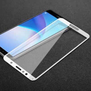 Für Huawei Y6 2018 3D Premium 0, 3 mm H9 Hart Glas Weiß Folie Schutz Hülle Neu