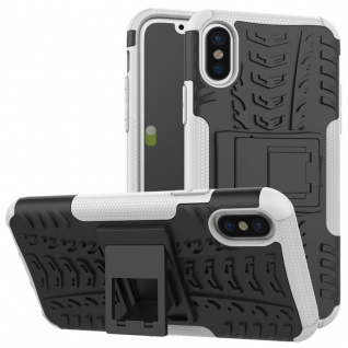 Hybrid Case 2teilig Outdoor Weiß für Apple iPhone X / XS 5.8 Zoll Tasche Hülle