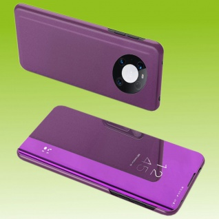 Für Huawei Mate 40 Pro View Smart Cover Hülle Magenta Handy Tasche Etuis Wake UP