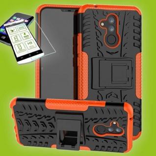 Für Huawei Mate 20 Lite Hybrid Tasche Outdoor 2teilig Orange Hülle + H9 Glas Neu