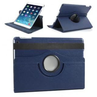 Design Tasche 360 Grad Rotation Case Zubehör für Apple iPad Air 2 Neu blau