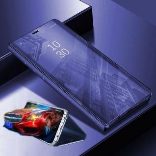 Für Xiaomi POCO Pocofone F1 Clear View Smart Cover Lila Tasche Hülle Wake UP Neu