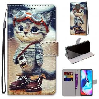 Für Motorola Moto E7 Plus / G9 / G9 Play Kunst-Leder Handy Tasche Motiv 1 Hülle