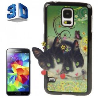 Hardcase Design 3D Optik 5 Hülle Case Schale Cover für Samsung Galaxy S5 G900 F
