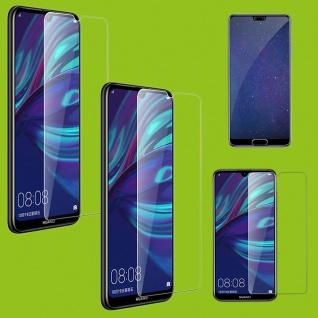 Für Huawei P30 2x 4D Full Curved Tempered Hart Glas Folie 0, 3 H9 Transparent Neu
