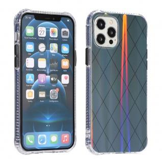 Für Apple iPhone 12 Mini Shockproof TPU Rauten Muster Tasche Hülle Etui Grau