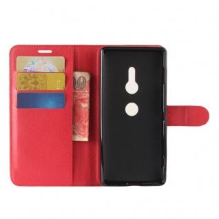 Tasche Wallet Premium Rot für Sony Xperia XZ2 Hülle Case Cover Schutz Etui Neu - Vorschau 5