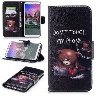 Für Huawei P Smart Plus Kunstleder Tasche Book Motiv 30 Schutz Hülle Case Cover