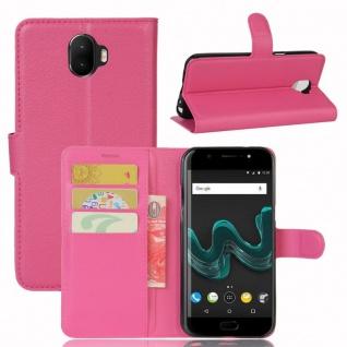 Tasche Wallet Premium Pink für Wiko Wim Hülle Case Cover Etui Schutz Neu Design