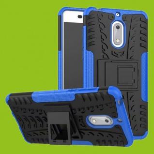 Für Nokia 3.1 5.2 Zoll Hybrid Case 2teilig Outdoor Blau Tasche Hülle Cover Neu