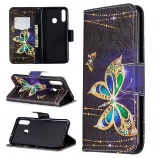 Für Samsung Galaxy A20S Kunst-Leder Handy Tasche Motiv 2 Hülle Case Etuis Cover