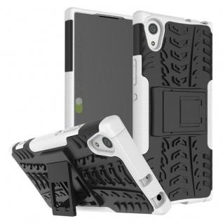 Hybrid Case 2teilig Outdoor Weiß Tasche Hülle für Sony Xperia XA1 Etui Cover Neu