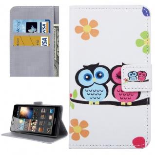 Schutzhülle Muster 58 für Huawei P9 Bookcover Tasche Case Hülle Wallet Etui Neu