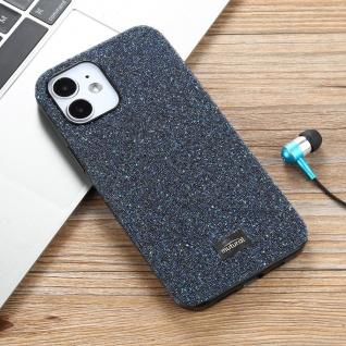 Für Apple iPhone 12 Mini Schutzcase Hartschale Schutz Shiny Cover Blau Glitzer Zubehör
