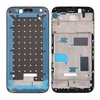 Gehäuse Rahmen Mittelrahmen Deckel kompatibel für Huawei G8 Schwarz