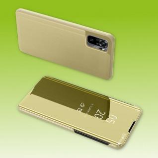 Für Xiaomi Redmi Note 10 / 10s View Smart Cover Hülle Gold Handy Tasche Etuis