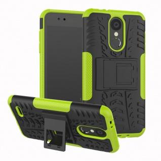 Für LG K9 2018 Hybrid Case 2teilig Outdoor Grün Etui Tasche Hülle Cover Schutz