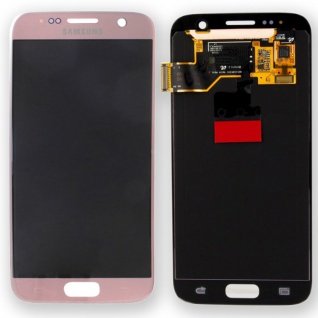 Display Full LCD GH97-18523E Pink Rosa Gold für Samsung Galaxy S7 G930 G930F Neu