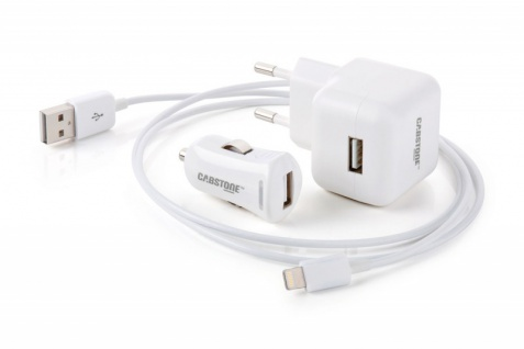 3in1 All in One Power SET für APPLE iPAD iPHONE 2, 1 A mit LightningConnector Datenkabel Zubehör TOP