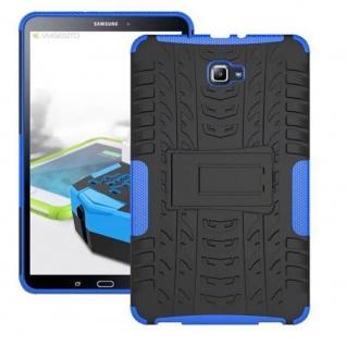 Hybrid Outdoor Schutzhülle Blau für Samsung Galaxy Tab A 10.1 T580 T585 Tasche