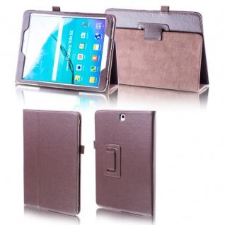 Für Samsung Galaxy Tab A 10.5 T590 T595 Braun Kunstleder Hülle Cover Tasche Case