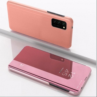 Für Samsung Galaxy S20 FE View Smart Cover Pink Handy Tasche Cover Etuis Wake UP