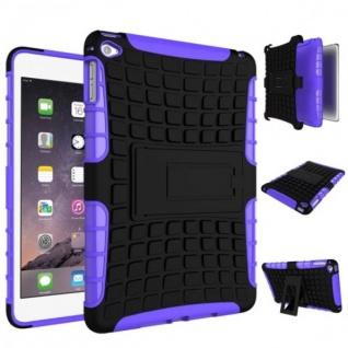 Für Apple iPad Mini 5 7.9 2019 Hybrid Outdoor Tasche Etuis Hülle Cover Lila Case