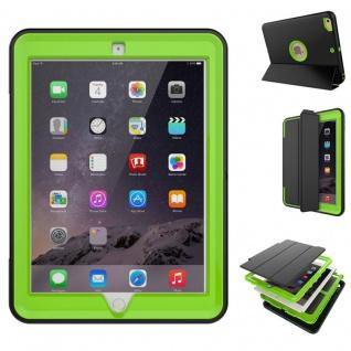 Hybrid Outdoor Schutzhülle Cover Grün für Apple iPad Air 2 Tasche Case Neu