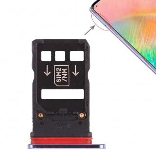 Für Huawei Mate 20 X Karten Halter Sim Tray Schlitten Holder Blau Ersatzteil Neu