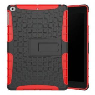 Hybrid Outdoor Schutzhülle Cover Rot für Apple iPad 9.7 2017 Tasche Case Hülle