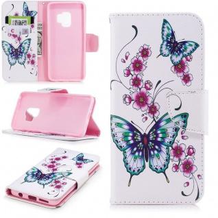 Tasche Wallet Book Cover Motiv 27 für Samsung Galaxy S9 G960F Hülle Case Etui