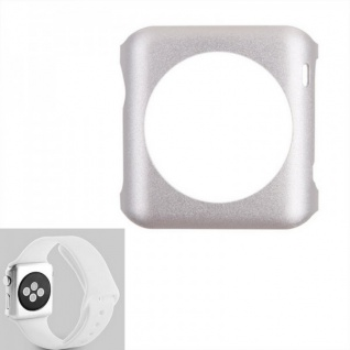 Premium Snap On Alu Backcase Silber für Apple Watch 42 mm Schutzhülle Backcover