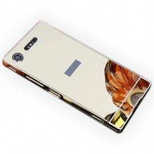Alu Bumper 2teilig Abdeckung Gold für Sony Xperia XZ1 G8341 G8342 Tasche Case