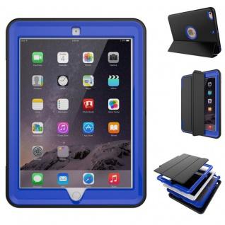 Hybrid Outdoor Schutzhülle Cover Dunkelblau für Apple iPad 2 / 3 / 4 Tasche Neu