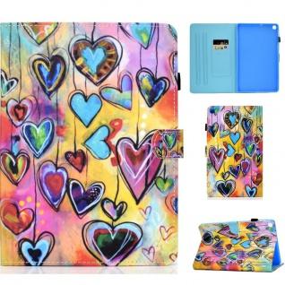 Für Samsung Galaxy Tab S6 Lite P610 Motiv 91 Tablet Tasche Kunst Leder Etuis Neu