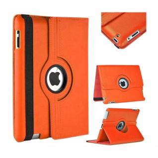 Für Apple iPad Pro 12.9 3. Gen Orange 360 Grad Hülle Cover Tasche Kunstleder Neu