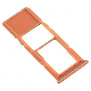 Sim Karten Halter für Samsung Galaxy A70 Orange Card Tray Micro SD Ersatzteil - Vorschau 4