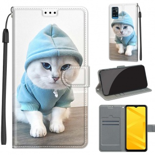 Für ZTE Blade A71 Kunst-Leder Handy Tasche Motiv 4 Hülle Etuis Case Cover Schutz