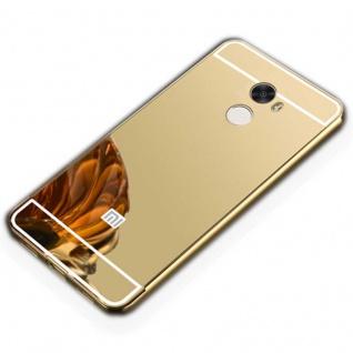 Spiegel / Mirror Alu Bumper Gold für Xiaomi Redmi 5 Plus Cover Tasche Hülle Neu