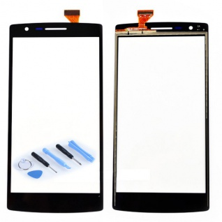 Reparatur Displayglas Touch Screen für ONEPLUS One 1+ A0001 Flex Kabel Schwarz