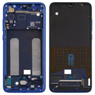 Gehäuse Rahmen Mittelrahmen Deckel für Xiaomi Mi 9 Lite Blau Ersatz Reparatur