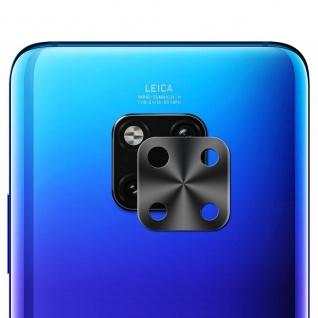 Metall Kamera Schutz Ring Rückseite für Huawei Mate 20 Pro Schwarz Zubehör Neu