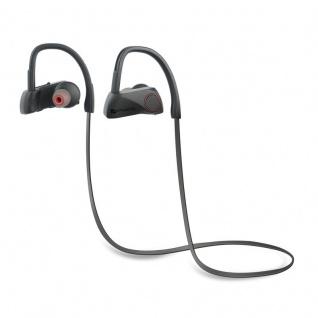 Wireless Sport InEar Stereo Headset BT-X Kopfhörer Ohrhörer Hörer Remote Schwarz