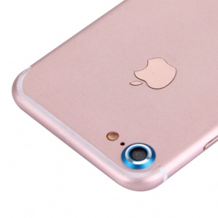 Kameraschutz für Apple iPhone 7 Kamera Schutz Kameraring Cam Protector Blau