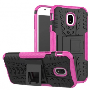 Hybrid Case 2teilig Outdoor Pink Tasche Hülle für Samsung Galaxy J3 J330F 2017