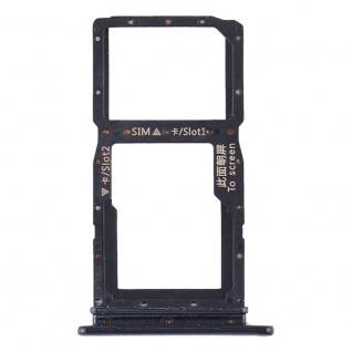Sim Karten Halter für Huawei Honor 9X Schwarz Card Tray Ersatzteil Reparatur